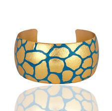 Women 18K Yellow Gold Plated Bridal Wide Cuff Bangle Bracelets Fashion Jewelry