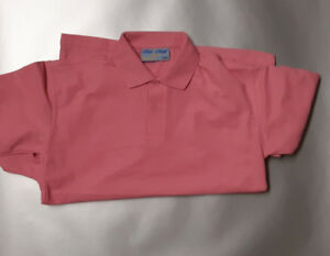 2X AGE 11/12 PINK BLUE MAX PENTHOUSE POLO PLAIN 65/35 SCHOOL SPORT POLO PACK