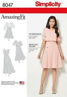 SIMPLICITY SEWING PATTERN MISSES' DRESS IN 3 LENGTHS SIZES 6 - 22  8047