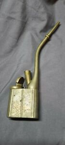 Antique Chinese O pium  tobacco water pipe vintage brass