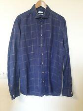 Giordano Check Linen Shirt Top Size L 41/42