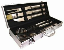 5 PCS BBQ Grill Cooking Utensils Tool Set Stainless Steel Barbeque Portable Case