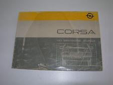 OPEL CORSA - LIBRETTO Manuale Uso e Manutenzione (1986)
