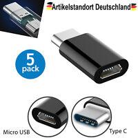 5x Adapter USB Typ-C 3.1 zu Micro USB Konverter Tablet Stecker Buchse Ladekabel