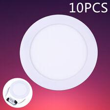 10Pcs 12W LED Panel Recessed Ceiling Down Lights Bulb Slim Lamp Fixture Home