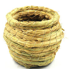 Handmade Straw Bird Nest House Parrot Hatching Breeding Natural Pet Grass Cave