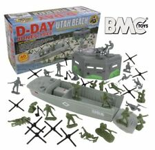 BMC D-Day Utah Beach Playset WWII 1/32 54MM Army Toy Soldier American GI German