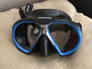 Atomic Aquatics Subframe Black & Royal Blue Scuba Diving Mask ~ Regular Fit