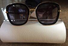 Jimmy Choo Glenn QBE/9C Black Square Sunglasses Grey Gradient Lens