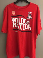 Nike Sz XL Arizona Wildcats Football T-Shirt Red Vizio Fiesta Bowl 100% Cotton