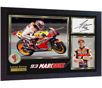*** New MARC MARQUEZ MOTO GP photo print autographed signed marc marquez Framed
