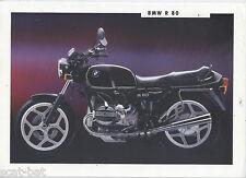 Genuine BMW R80 (1993) Dealership Sales Brochure 800 Boxer Twin R 80 R-Series