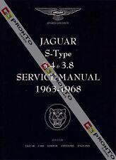 FACTORY WORKSHOP SERVICE REPAIR MANUAL BOOK JAGUAR S-TYPE S TYPE 3.4S 3.8S 63-68