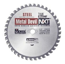 Mk Morse Csm72540nsc Metal Devil Nxt 7 14 In 40t Metal Cutting Blade In Stock