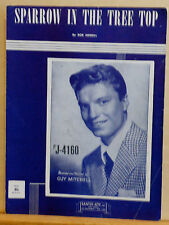 Sparrow In The Tree Top - 1951 vintage sheet music - Guy Mitchell photo cover