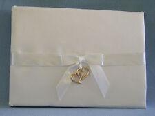 Wilton Wedding Guest Book White Satin Hearts Ceremony Bridal New