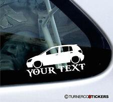 Custom Text / Name ,LOW Hyundai Getz (2002-04) 5-Door car bumper sticker /Decal