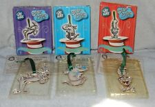 Cat In The Hat Silver Plated Christmas Ornaments Mischievous & Classic Cat w Box