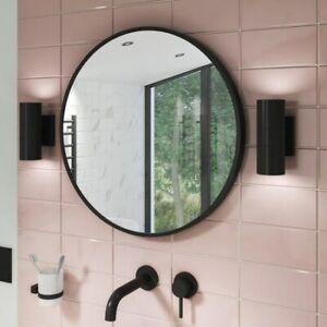 Alcor Matt Black Bathroom Mirror - 800 x 800mm