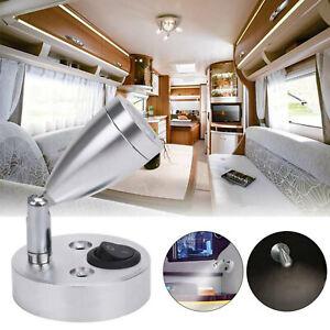 2X 12V LED Spot Reading Light Interior Switch Camper Van Caravan Boat Motorhome