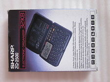 Sharp ZQ-2500 Electronic Organizer Vintage retro raro NEW BOXED