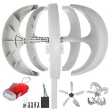 400W 12V Garten Wind Turbine Generator Windrad Windgenerator Weiß mit Controller