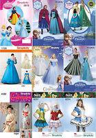 Simplicity Sewing Pattern Costume Disney Princess Cinderella Frozen Movie
