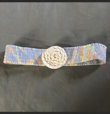 Vintage Stretch Belt Elastic Hippie Rope Flower Woman's Small Medium