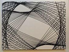 "Charity Professional black on white pendulum painting 18""x24"" canvas White"