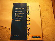 New Holland INTELLISTEER AUTO STEERING SYSTEM Operators MANUAL 87757319 7/09