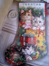 Dimensions Needlepoint Holiday Stocking Craft Kit,CHRISTMAS KITTENS,9137,Edwards
