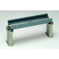 Tomix 3027 Deck Girder Bridge (F) (w/ 2 brick piers/blue) 140mm - N