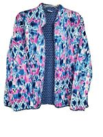 New Alfred Dunner Reversible Quilted Light Weight Jacket Pink Blue White Size 16