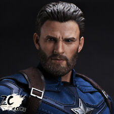 ZCTOYS 1/6 T-05 Captain America With Beard Version for Hot Toys Body