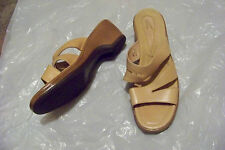 womens dansko yellow tone strappy wedge heels shoes size 42 11.5-12