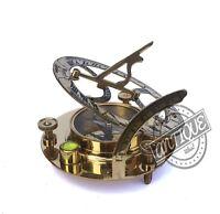 Christmas Antique Nautical Marina Militare Compass Vintage Sundial Clock Desk