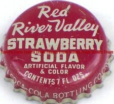 1940s Minnesota CROOKSTON Coca-Cola Bottling RED RIVER VALLEY STRAWBERRY Crown
