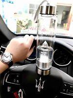 quartz crystal Reiki natural point obelisk spa Elixir glass water healing bottle