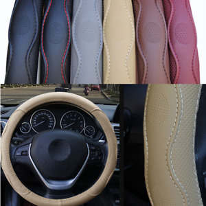 Durable PU leather Car Auto Steering Wheel Cover 15inch 38cm For All Seasons