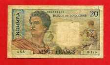 (D 176)  INDOCHINE FRANÇAISE 20 FRANCS NOUMÉA  (1954-1958) TB+