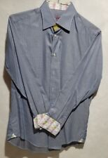 Robert Graham Checkered Long Sleeve Flip Cuff Button Down Shirt Men's Size Med.
