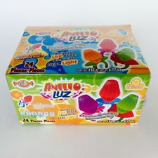 Ring Pop Candy~w/ Real Light~Solid Caramel~Fruit Flavor Ring ~24 pieces