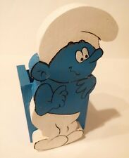 Vintage Handmade Cute Wooden Smurf Pen or Pencil Case/ Storage Jar Box*READ