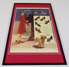 1942 Air Step Shoes Heels Framed 11x17 ORIGINAL Vintage Advertising Poster