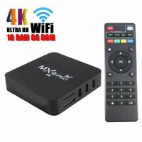 MXQ Pro 4K Ultra HD 64Bit 5GWifi Android 9.0 Quad Core Smart TV Box Media Player