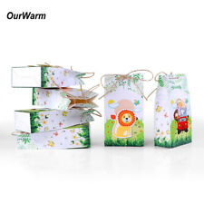 6xZoo Safari Animal Candy Boxes Sweet Gift Box Jungle Birthday Party Kids Favour