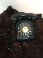 Vintage Black Bell Western Electric Rotary Desk Telephone Phone