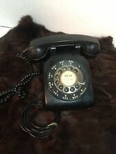 Vintage Black Bell Western Electric Rotary Desk Telephone Phone