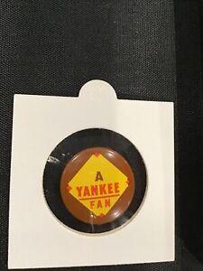 New York NY Yankees vintage baseball pin A Yankee Fan Pinback