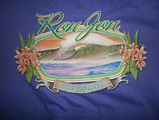 NEW RON JON SURF SHOP BIG WAVE SURFING SURFBOARD SHIRT PURPLE WOMENS SIZE LG